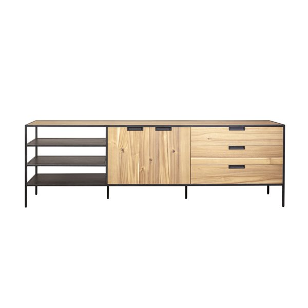 Eleonora Madison light - dressoir - bruin - 220 cm x 42 cm x 70 cm